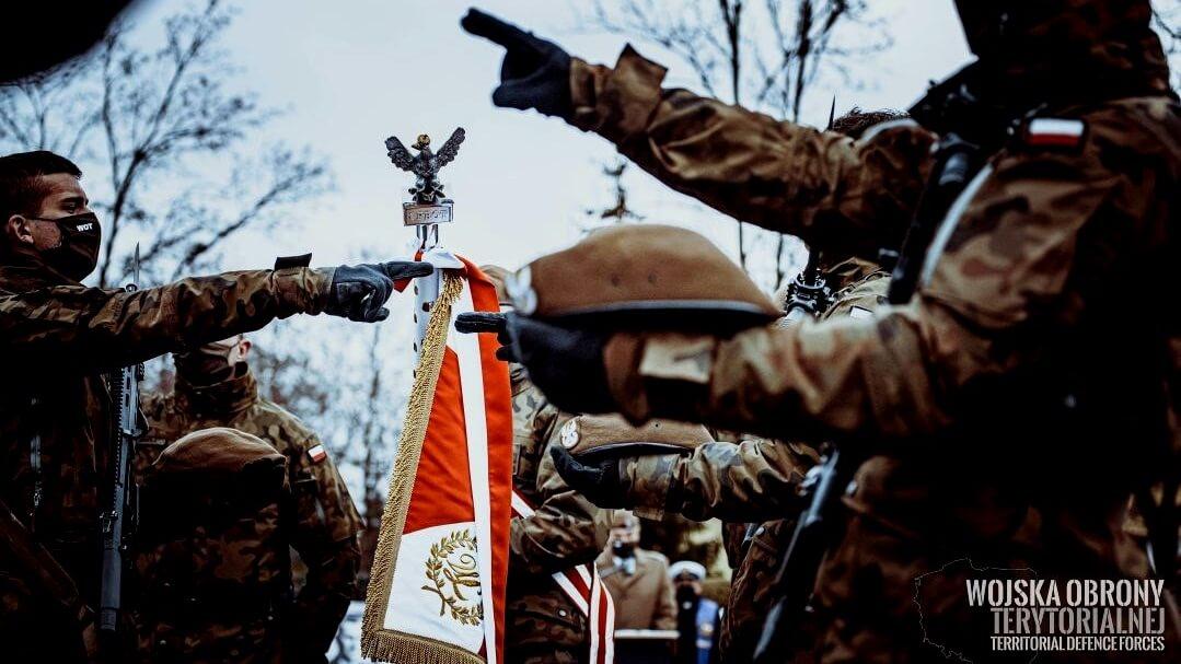 Przysięga podlaskich terytorialsów, 5.12.2020, źródło fot.: DWOT