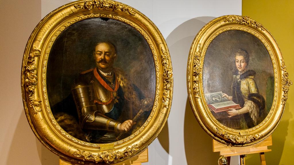 Portrety Jana Klemensa i Izabeli Branickich w Muzeum Podlaskim w Białymstoku, fot. Monika Kalicka