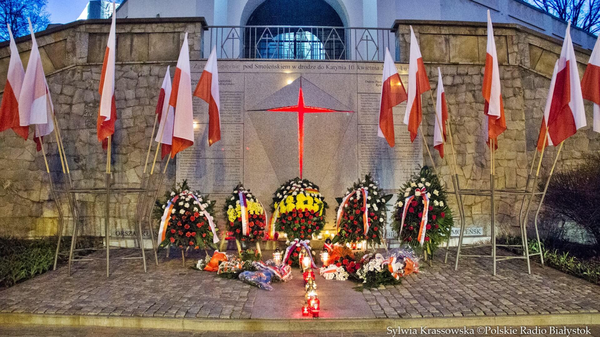 Uroczystości 9. rocznicy katastrofy smoleńskiej w Białymstoku, fot. Sylwia Krassowska
