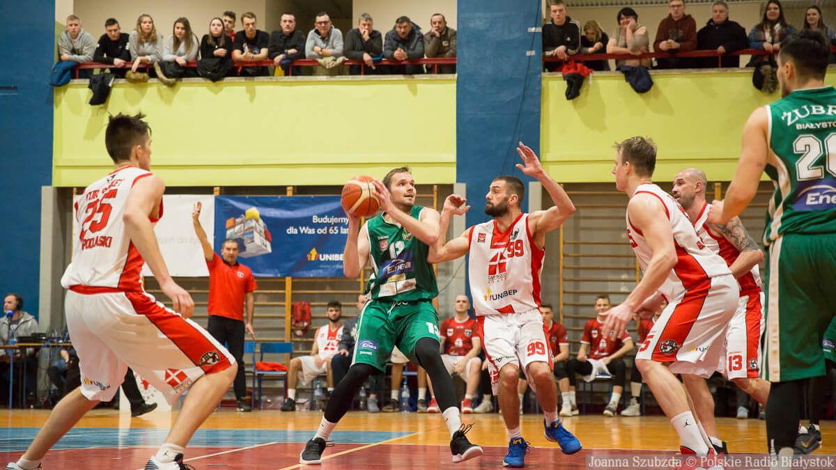 Tur Basket Bielsk Podlaski - Żubry Białystok, styczeń 2019, fot. Joanna Szubzda