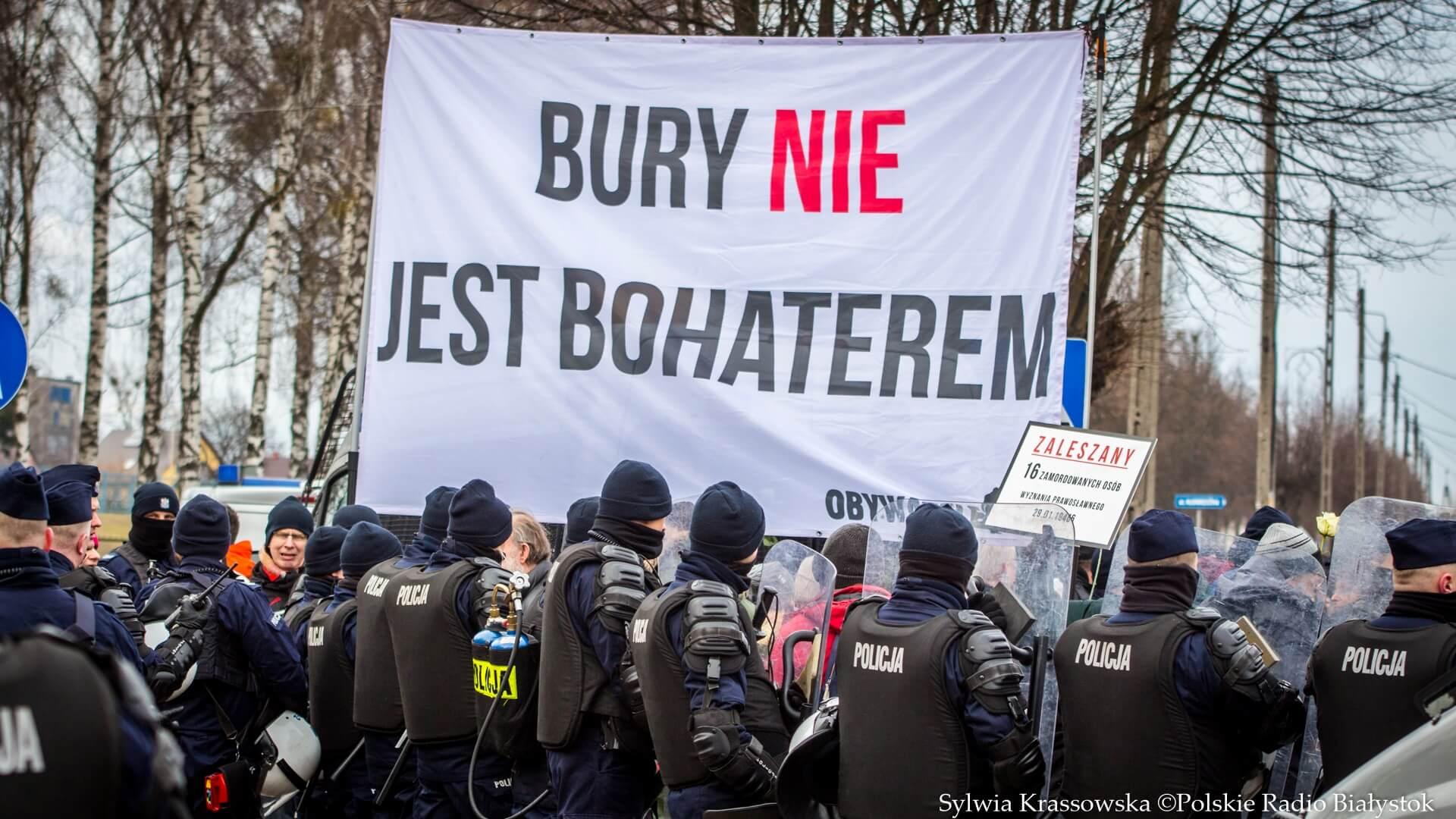 Protest Obywateli RP przeciwko IV Hajnowskiemu Marszowi Pamięci Żołnierzy Wyklętych, fot. Sylwia Krassowska