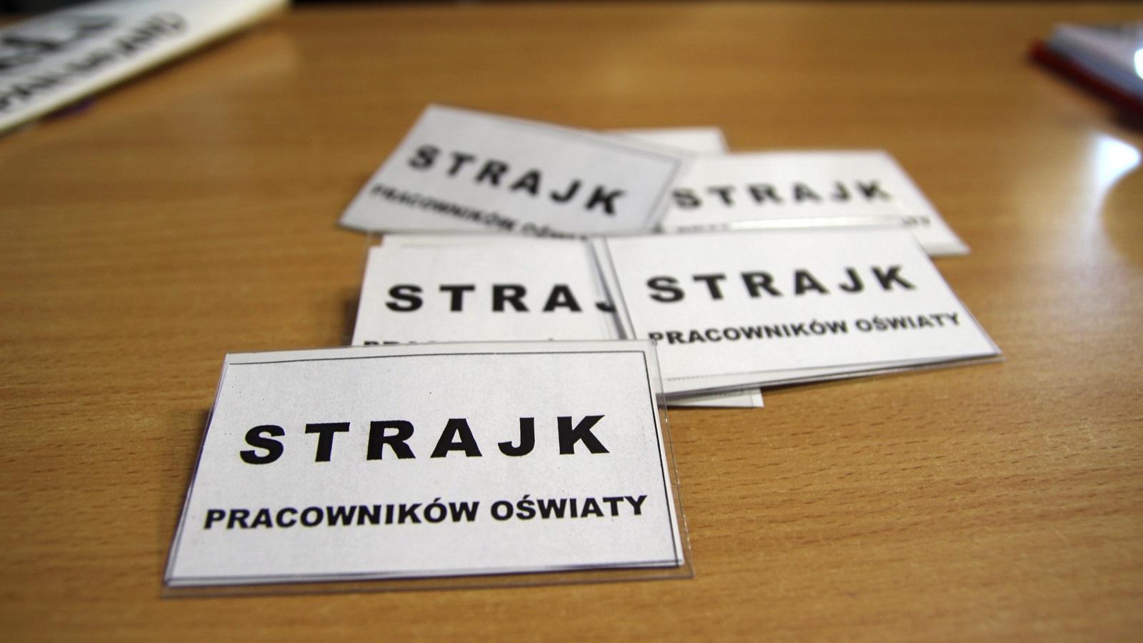 Strajk nauczycieli w podlaskich szkołach i przedszkolach, fot. Marcin Mazewski