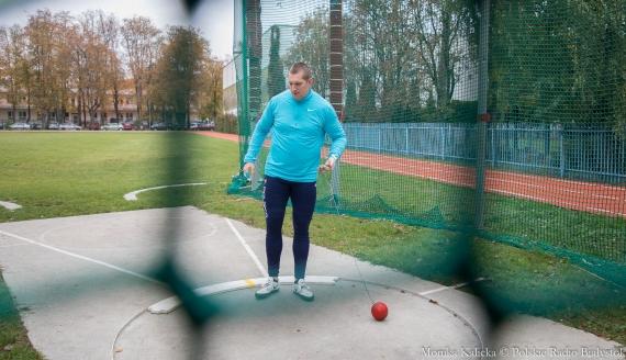 Wojciech Nowicki podczas treningu, fot. Monika Kalicka
