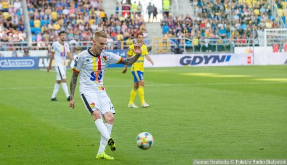 Jakub Wójcicki w meczu przeciwko Arce Gdynia - fot. Joanna Szubzda