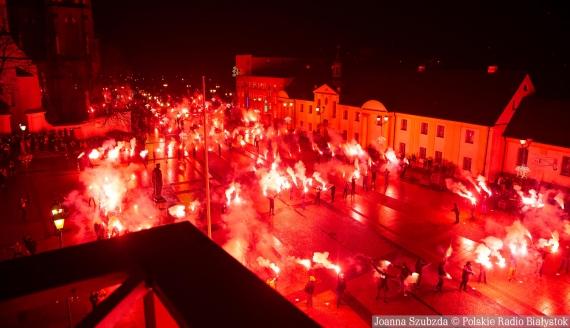 Setki rac na stulecie - akcja kibiców Jagiellonii Białystok, fot. Joanna Szubzda