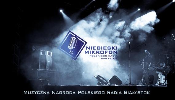 Niebieski Mikrofon Polskiego Radia Białystok
