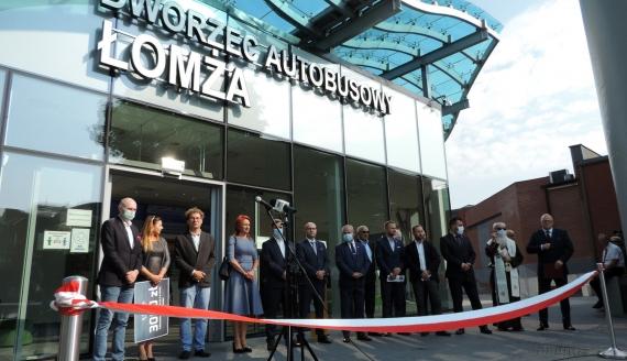 Otwarcie centrum przesiadkowo-komunikacyjnego w Łomży, fot. Adam Dąbrowski