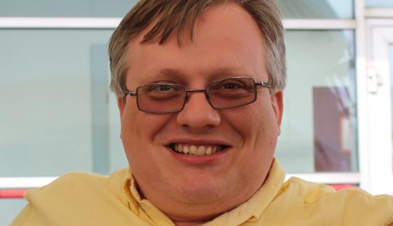 Juraś Ziankowicz, prawnik mieszkający w Huston w Stanach Zjednoczonych, foto Jarosław Iwaniuk