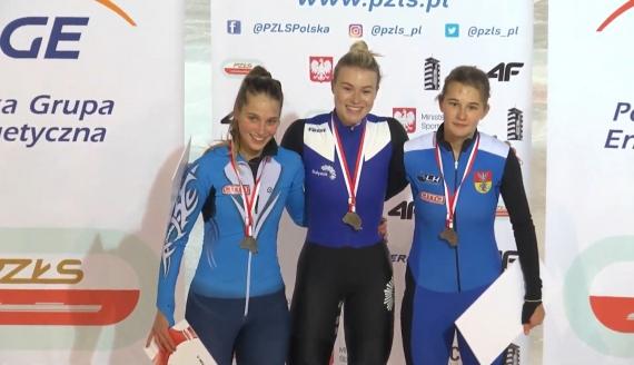 Gabriela Topolska, Natalia Maliszewska i Hanna Sokołowska, screen z transmisji zawodów