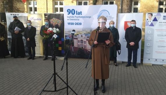 Uroczystości w 90. rocznicę powstania Szpitala Psychiatrycznego w Choroszczy, 25.11.2020, fot. Edyta Wołosik