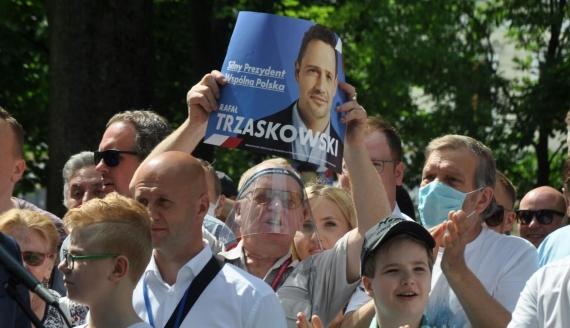 Rafał Trzaskowski w Suwałkach, fot. Marcin Kapuściński
