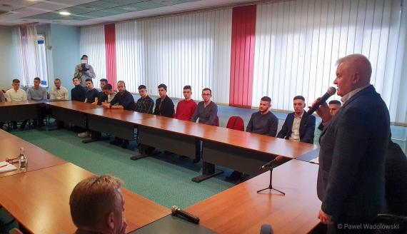 Łomżyńscy sportowcy otrzymali stypendia, fot. Paweł Wądołowski