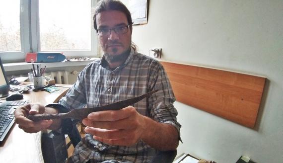 Grot znaleziony w Nadleśnictwie Waliły ma około 1800 lat - potwierdzili to specjaliści, fot. Edyta Wołosik