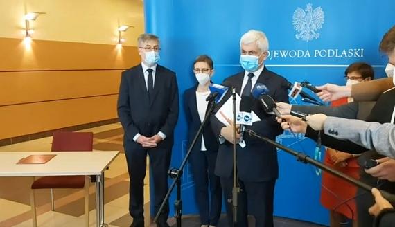 Źródło: Podlaski Urząd Wojewódzki/screen z konferencji