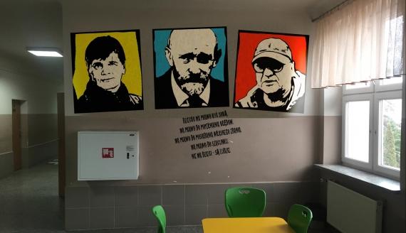Koncepcja muralu w SP nr 20 w Białymstoku, źródło: Szkoła Podstawowa nr 20 im. gen Władysława Sikorskiego