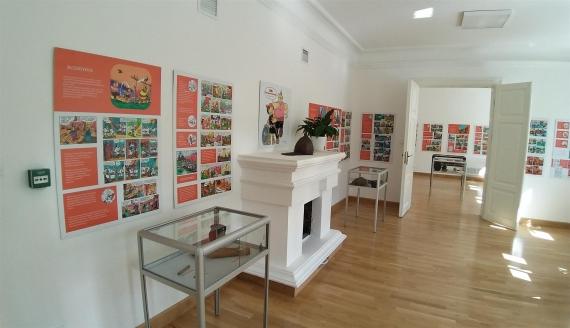 """W Suwałkach można oglądać wystawę """"Kajko i Kokosz – komiksowa archeologia"""", fot. Iza Kosakowska"""