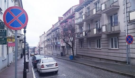 Na ul. Dwornej w Łomży nie będzie można parkować, fot. Adam Dąbrowski