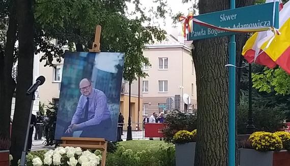 Białystok uczcił byłego prezydenta Gdańska - odsłonięto skwer im. Pawła Adamowicza, fot. Ryszard Minko