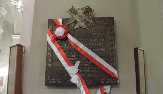 W Zambrowie odsłonięto tablicę upamiętniającą 71. Pułk Piechoty, fot. Adam Dąbrowski