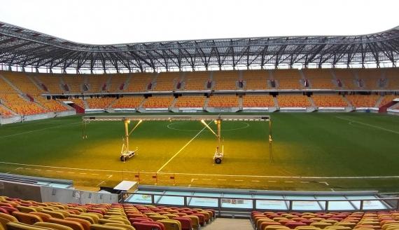 Na białostockim stadionie miejskim działa już system doświetlający, fot. Edyta Wołosik