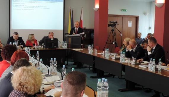 Sesja Rady Miejskiej w Łomży ws. linii kolejowej, 26.02.2020, fot. Adam Dąbrowski