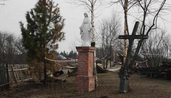 Zgliszcza kościoła w Białymstoku na Syberii, fot. Agnieszka Kaniewska