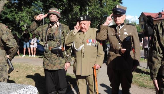 76. rocznica wybuchu Powstania Warszawskiego - obchody w Łomży, fot. Adam Dąbrowski