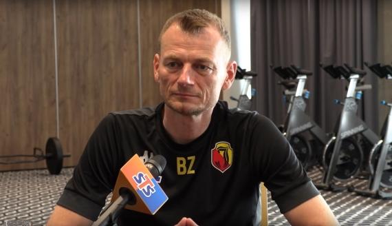 Trener Jagiellonii Bogdan Zając - fot. screen z konferencji prasowej