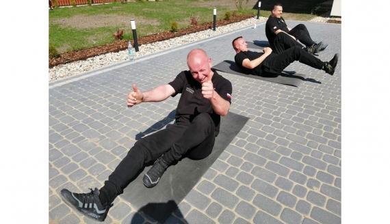 Aerobik online ze strażakami z OSP Gródek, źródło: Gminne Centrum Kultury w Gródku