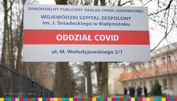 W szpitalu wojewódzkim w Białymstoku powstał oddział covidowy, źródło: fot. Piotr Babulewicz/UMWP