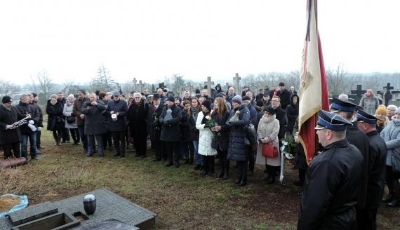 Najbliżsi i przyjaciele pożegnali poetę Henryka Gałę, fot. Adam Dąbrowski