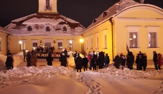 Protest w Białymstoku przeciw decyzji TK ws. aborcji, 27.01.2021, fot. Michał Buraczewski