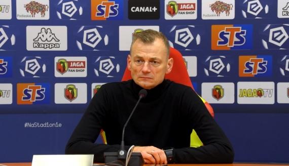 Bogdan Zając po meczu z Lechem Poznań - źródło: Biuro Prasowe Jagiellonii Białystok