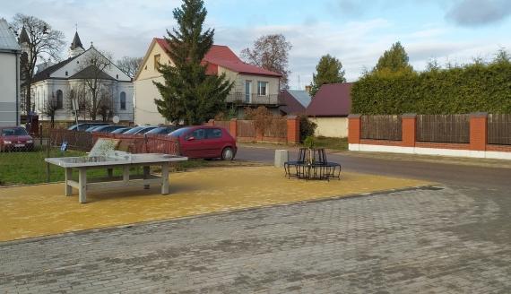 Plac miejski w Suchowoli po rewitalizacji, fot. Marcin Mazewski