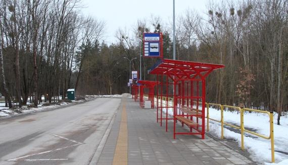 Pętla autobusowa przy ul. Filipowicza w Białymstoku. fot. Barbara Sokolińska