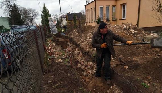 Prace archeologiczne w Orli, fot. Eugeniusz Ryżyk
