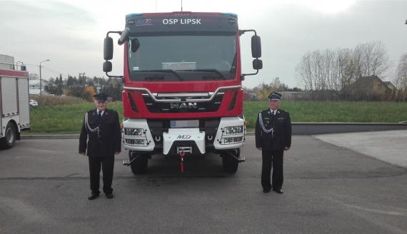 OSP z Lipska ma nowy wóz strażacki, fot. Konrad Skokowski