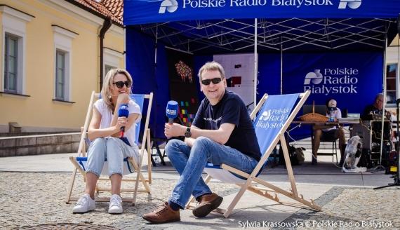 """Początek akcji """"Podlaskie To Tu!"""" na Rynku Kościuszki w Białymstoku, fot. Sylwia Krassowska"""