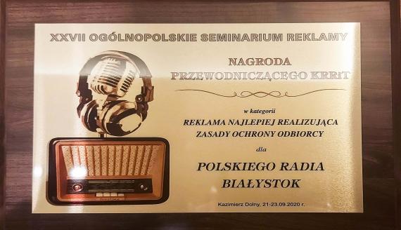 Polskie Radio Białystok z nagrodą za najlepszą reklamę