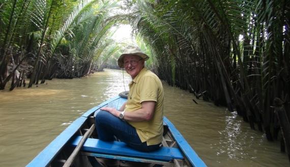 Prof. Andrzej Górniak z Uniwersytetu w Białymstoku będzie badał wody m.in. rzeki Mekong, źródło: z archiwum prywatnego profesora