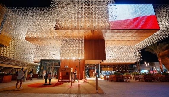 Pawilon Polski na EXPO 2020 w Dubaju, źródło: Facebook Podlaskie