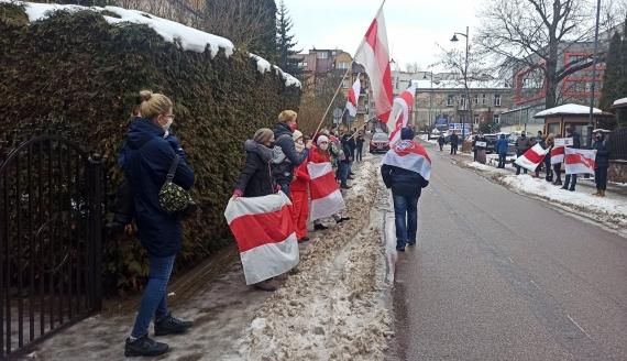Łańcuch Solidarności w Białymstoku, fot. Źmicier Kościn