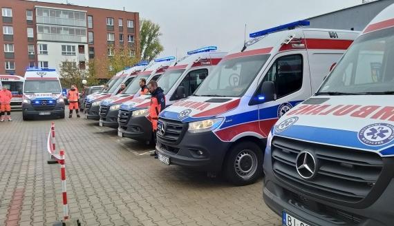 Wojewódzka Stacja Pogotowia Ratunkowego w Białymstoku ma 10 nowych ambulansów, fot. Ryszard Minko
