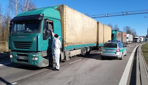 Kontrole na granicy z Litwą w Budzisku, fot. Iza Kosakowska