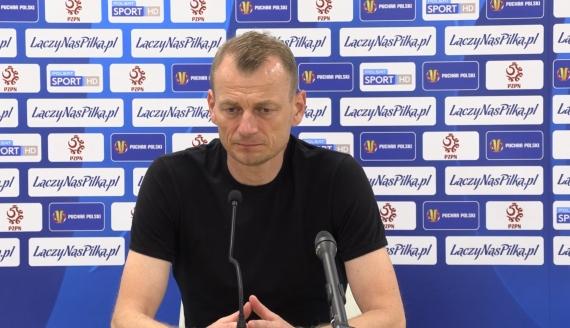 Bogdan Zając po meczu Górnik Zabrze - Jagiellonia (3:1) - źródło screen z konferencji prasowej