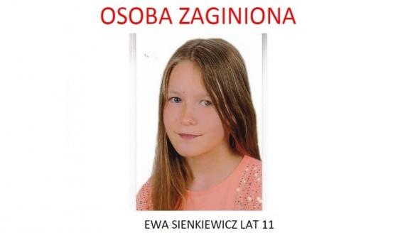 Zaginęła 11-letnia Ewa Sienkiewicz z Wasilkowa, źródło: podlaska policja