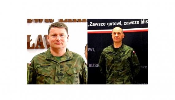 Ppłk Robert Krzemiński i plut. Andrzej Miszczuk, źródło: 1 Podlaska Brygada Obrony Terytorialnej