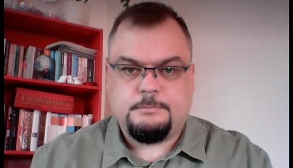 Jarosław Ścieszyk, fot. screen z rozmowy na Skype
