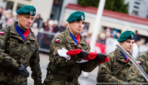 Białostockie obchody Narodowego Święta Niepodległości, fot. Sylwia Krassowska