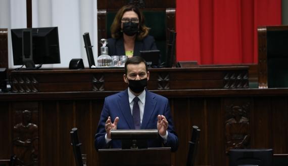 Wystąpienie premiera Mateusza Morawieckiego w Sejmie, źródło: KPRM/Twitter